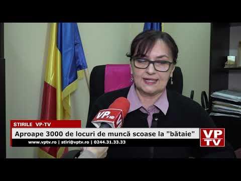 """Aproape 3000 de locuri de muncă scoase la """"bătaie"""""""