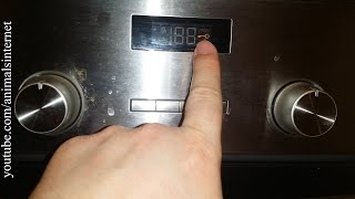 How to lock/unlock a Balay (Bosch, Siemens) electric oven 3HB505XM step by step. 4K UHD 2160p