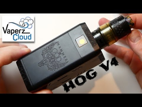 Hammer Of God V4 Para-Series Mech Mod by Vaperz Cloud Review & Breakdown (VS Hog V1)