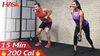 15 Min Beginner Kettlebell Workout For Fat Loss - Kettlebell Workouts For Beginners Men & Women