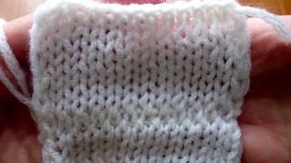 Поперёчный (горизонтальный) шов по закрытым петлям лицевой глади  Как я это делаю