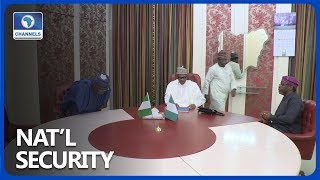Buhari Meets With Senate President, House Speaker