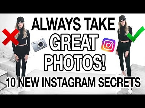 HOW TO ALWAYS TAKE GREAT PHOTOS! 10 NEW INSTAGRAM SECRETS