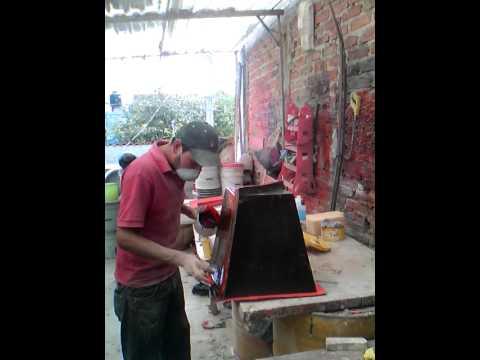 Fibra de vidrio elaboración de molde para macetas
