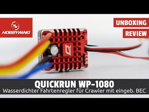 Hobbywing QuicRun WP 1080 - Crawler Fahrtenregler - Unboxing & Programmierung [HD/Deutsch]