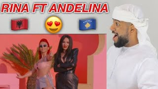 ARAB REACTION TO ALBANIAN MUSIC BY RINA FT ADELINA ISMAILI   QIKAT **WOW**