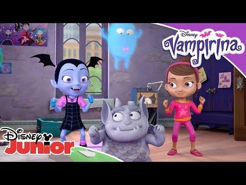 Spinechiller | Dance Along 🕺 | Vampirina | Disney Junior Arabia