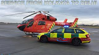 Book Medical Care Air Ambulance Service from Kolkata to Delhi