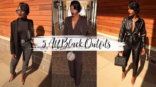 ALL BLACK OUTFITS FOR FALL 2019 | IDESIGN8