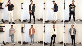 10 Ways to Style Jeans and T-Shirts | Easy Outfit Ideas for Men | Alex Costa