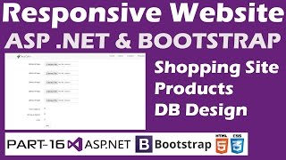 Responsive Website-ASP.NET&Bootstrap-Part 16-Online Shopping Site - Products - Database Designing