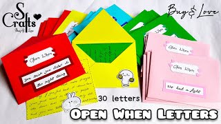Open When Letters 💌 30 Contents and Topics | Handmade | long distance gift ideas | S Crafts