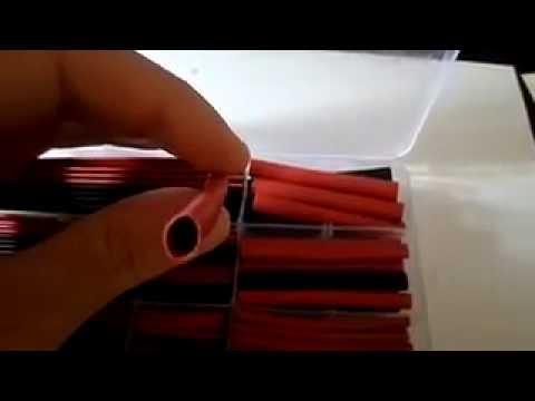 150pcs 2: 1 Poliolefina H-Tipo del encogimiento del calor del tubo