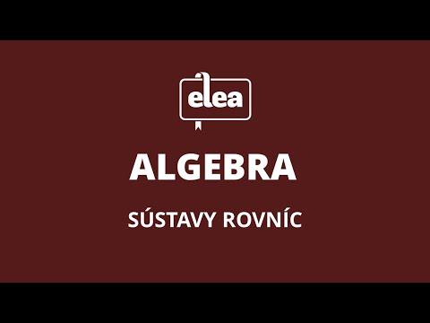 Príklady na sústavy dvoch rovníc   Elea: Nauč sa matiku