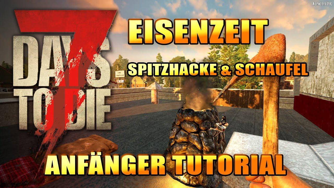 7 Days to Die 05 | Eisenzeit - Spitzhacke & Schaufel | Alpha 19 Gameplay Deutsch Tutorial Beginner thumbnail