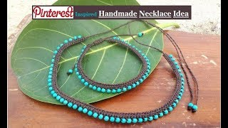 How To Make Necklaces At Home | DIY Jewellery Making | Handmade Necklace Ideas | Creation&you
