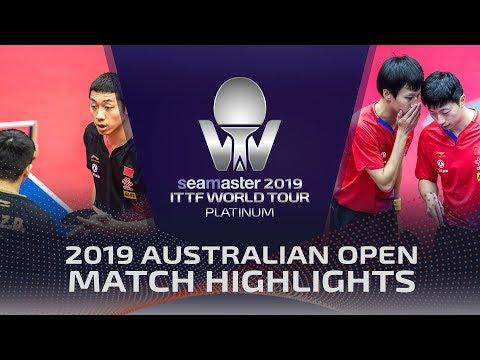 Ma Long/Lin Gaoyuan vs Xu Xin/Fan Zhendong | 2019 ITTF Australian Open Highlights (1/2)