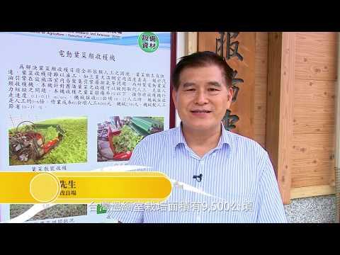 農業改革看台灣 電動葉菜散裝收穫機