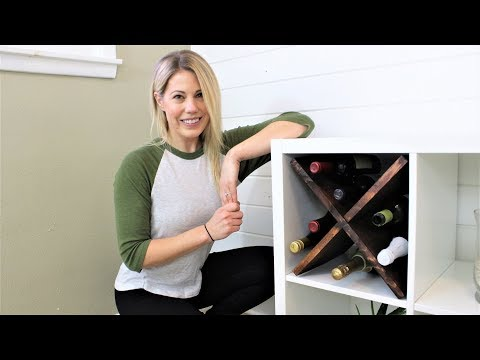IKEA HACK: Wine Rack for Kallax