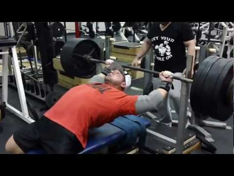 Garrett GUNZ Griffin Team BOAD 525 lb Bench at 217 sponsors BOAD, ANIMAL, IRON REBEL