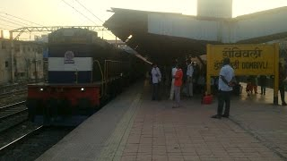 preview picture of video '11205 Mumbai LTT - Nizamabad Express with WDM 3D #11355 At Dombivali'