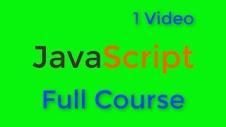 JavaScript Tutorial for Beginners | Full Course