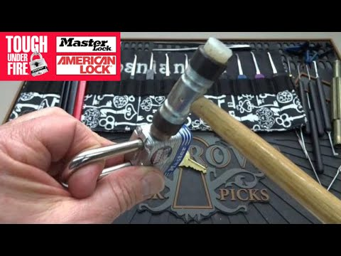 Open A Claw Padlock Using The 'Rapping' Method, No Lock Picking Required