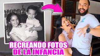 Imitando Fotos de mi Infancia! Me Corto el Cabello para Recrear Fotos Viejas 😱 SandraCiresArt