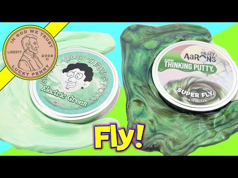 Crazy Aaron's Electric Green & Super Fly Thinking Putty