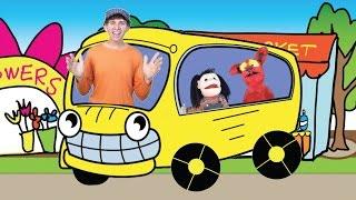 Wheels On The Bus with Matt   Children's Song   Preschool, Kindergarten, Learn English