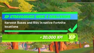 Harvest buses and RVs in native fortnite locations