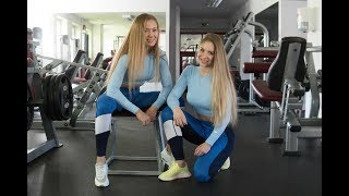 Bikini Fitness Girls Gym Workout | Victoria & Karin