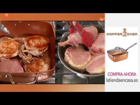 Sarten Copper Chef cuadrada con revestimiento de partículas de cobre