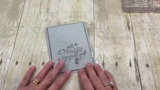 How to make a Quick Sympathy Card