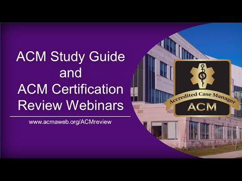 ACM Study Guide and ACM Certification Review Webinars - YouTube