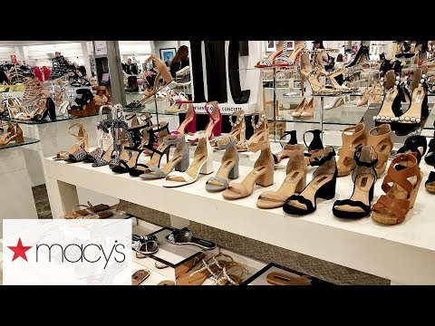 MACY'S SHOP WITH ME SHOES JESSICA SIMPSON MICHAEL KORS KATY PERRY WALK THROUGH 2018