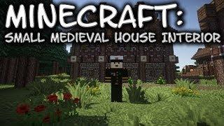 Minecraft Tutorial: Small Medieval House Interior! Part 2/2 MinecraftVideos TV