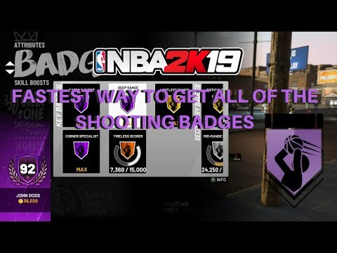 NEW FASTEST WAY TO GET ALL HOF SHARPSHOOTER BADGES IN NBA