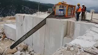 Ocaklarda zincirli kollu kesme makinası nasıl çalışır?  How does Chain Saw Machine  work in quarry?