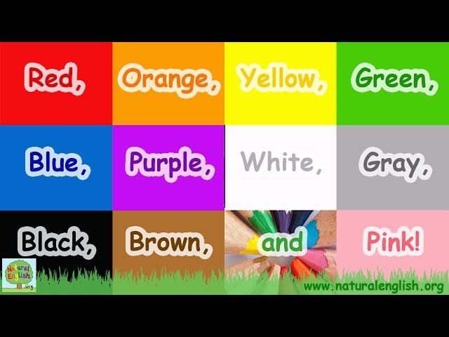 The Colors Song Learn Colours English With Natural Vocabulary