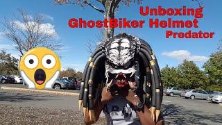 Predator helmet unboxing new version (open mouth teeth) #predatorhelmet