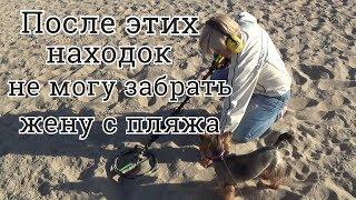Когда нашли золото - жена стала кладоискателем!Коп на пляже Азовского моря,золотой песок Урзуфа