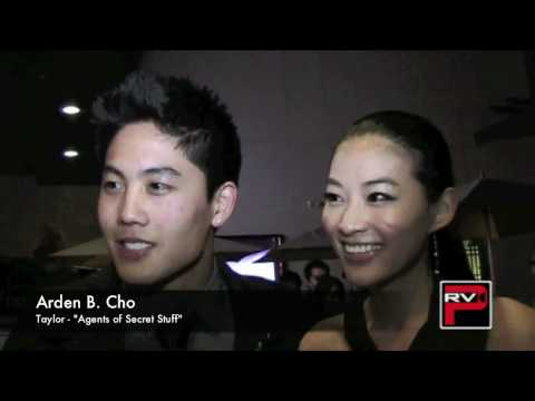 Ryan Higa with Arden Cho at the world premiere screening of Agents of Secret Stuff
