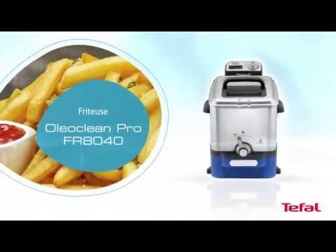 FR8040 Tefal Kaltzonenfritteuse Oleclean Inox Design Produkt