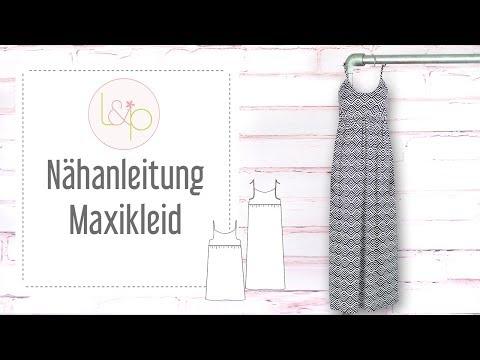 Nähanleitung lillesol Maxikleid - ein Sommerkleid mit Spaghettiträgern nähen
