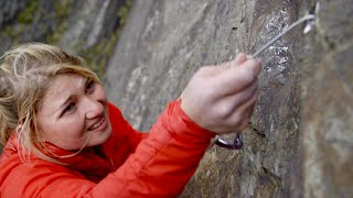 "First female climb of a British E9 - ""impossible wall"""