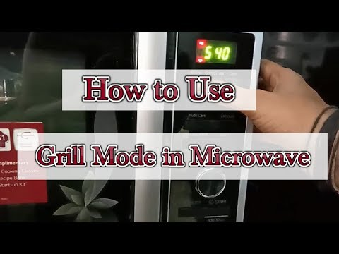How to use Grill mode in LG Microwave