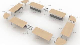 Simplic - Modułowy stół konferencyjny/ Modular conference table