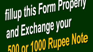 EASY EXCHANGE YOUR 500 or 1000 Rupee Note.