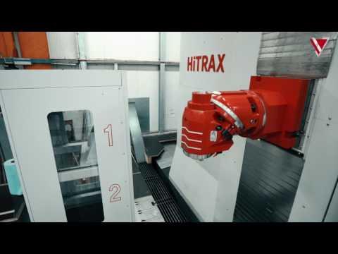 KIHEUNG HiTRAX Fahrständerfräsmaschine mit Kopfwechselstation